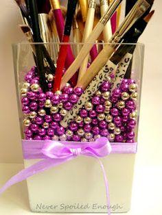 DIY: Brush Holder, pen holder, anything else holder....