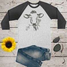 Cow baseball tee © by Bulwar on Etsy Supernatural Fans, Teachers' Day, Fishing Gifts, Foster Parenting, Condolences, Gifts For Father, The Fosters, Wedding Engagement, Cow