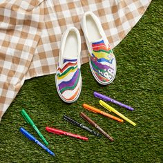 Customize your shoes using Avery markers! Create precise, clean lines with the ultra fine marker tip. Check out avery.com/ideas for more inspiration.