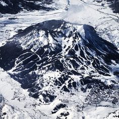 Mt Crested Butte from the air.