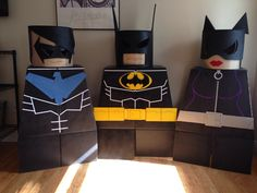 Lego Nightwing, Lego Batman, Lego Catwoman costumes all done! Ready for Halloween. Lego Halloween Costumes, Lego Costume, Character Halloween Costumes, Halloween Party, Halloween Ideas, Lego Nightwing, Lego Batman, Catwoman Cosplay, Trunk Or Treat