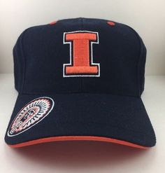 super popular ddc69 e9d6b Illinois Fighting Illini Ball Cap Hat Top the World Adjustable Hat - NCAA