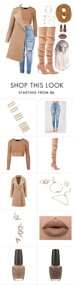 """""""Untitled #2505"""" by mrkr-lawson ❤ liked on Polyvore featuring Forever 21, Balmain, Boohoo and OPI"""