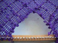 Como hacer escote en V en telar rectangular