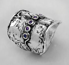 Shablool Didae Israel 925 Sterling Silver Amethyst CZ Ring, All Sizes Available