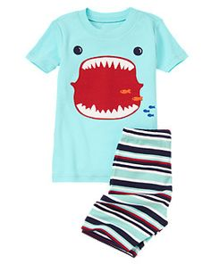 Shark Mouth Shortie Two-Piece Gymmies