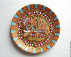 Декоративная посуда ручной работы. Ярмарка Мастеров - ручная работа. Купить Тот самый слон.Декоративная тарелка. Handmade. Золотой