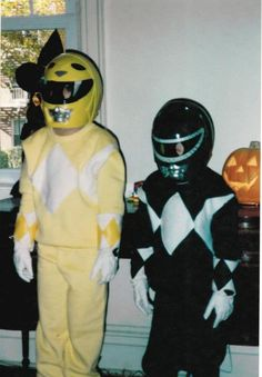 90s Halloween!  Who wasn't the power rangers at least once?!  #90s #halloween