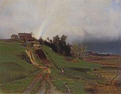 Rainbow, 1875 by Aleksey Savrasov. Realism. landscape