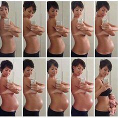 Proceso de embarazo reflejada en fotos... Hermosa imagen! #cienciainfinita by cienciainfinita