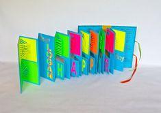 Birthday POP UP Accordion BOOk Card Custom Order by BoldFolds