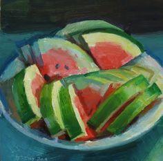 Awake and Painting: Watermelon Bowl