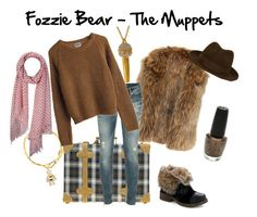 Fozzie Bear - The Muppets by snakeinmyboots on Polyvore featuring Dsquared2, Pieces, Swarovski, Vivienne Westwood, Crumpet, OPI, MTWTFSS Weekday, fozzie, disney and the muppets