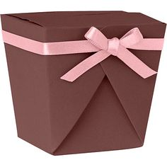 DIY Take out box template (brown with pink ribbon)