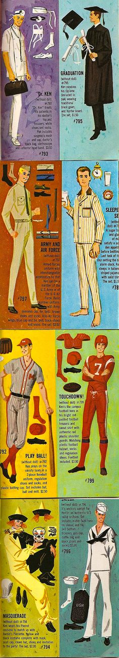 Ken Essentials -- Loved playing the Barbie Game; everyone wanted the Ken card for their boyfriend...