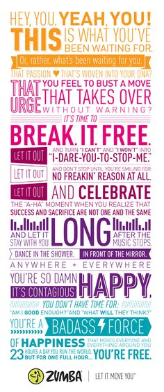 I want this blown up and framed ! :) <3 Zumba