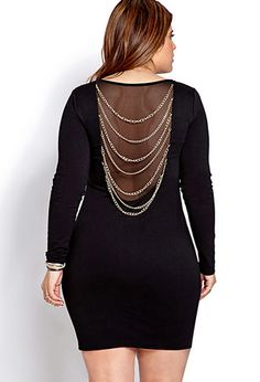 Underground Chained Dress | FOREVER21 PLUS - 2000071456 #plussize #valentinesday #outfit