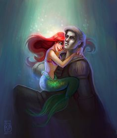 Ariel and Eric statue