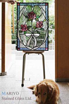 彩繪玻璃花型設計玫瑰和彩帶|博客作家小林和夫