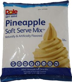 Pineapple Dole Whip Soft Serve Ice Cream Mix (Large 4.4 Pound Bag) - Authentic Dolewhip Same As Found in Disneyland and Hawaii