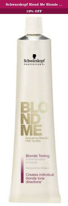 Schwarzkopf Blond Me Blonde Toning, Steel Blue. What it is: The new BLONDME toner color formula contains support POLYMERS. What it does: Can be mixed with the BLONDME Brightening and Weisskaschierungs creme. What else you need to know: Low ammonia content for a more gentle hair color. Potential for infinite creativity.