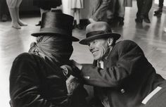 Benjamin Katz, James Lee Byars and Joseph Beuys at the exhibition 'To the Happy Few'