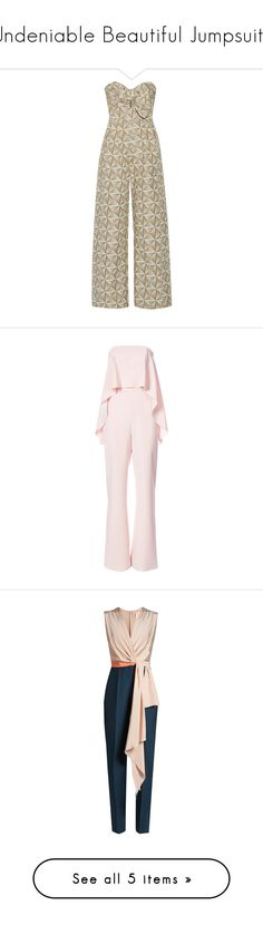 """""""Undeniable Beautiful Jumpsuits"""" by marquaysab ❤ liked on Polyvore featuring jumpsuits, jumpsuit, johanna ortiz, strapless jumpsuit, cream wide leg jumpsuit, jump suit, brown jumpsuit, cream jumpsuit, macacão and romper"""