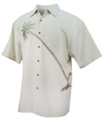 Hurricane Palm Tropical Embroidered Shirt in Palm