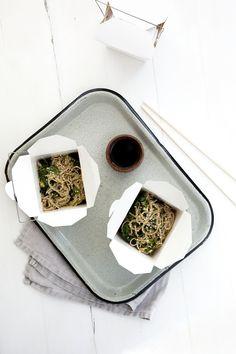 Avocado, Kale, and Sesame Miso Soba