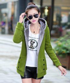 Womens Winter Jackets and Coats 2015 Fashion womens thick sweatshirt veste femme Chaquetas Mujer Anoraks Femme Plus size Coats(China (Mainland))