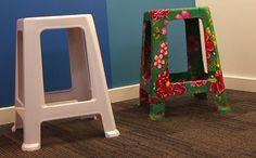Banco De Plástico também pode ser decorado com tecido. A artesã Carol Panini dá dicas para você revestir o banquinho de forma simples e fácil. Veja