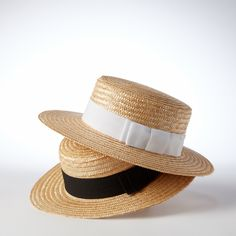 Helene Berman straw boater hat
