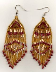 Indian Blanket Seed Bead Earrings. ♡ these. So many beautiful earrings and other authentic Native American Jewelry.