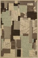 An eye catching collage of geometric shapes in earthy tones creates a distinct center piece with this comfortable and lasting area rug. A gorgeous palette of beige, brown, coffee, and olive adorns a variety of textile designs that make up this beautiful modern patchwork. This exceptional piece both excites the senses and soothes the soul.