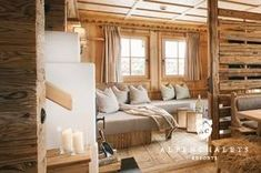 Cozy living area in the luxury Chalet Sporer Alm in the Zillertal - - Chalet Interior, Interior Design, Cozy Living, Living Area, Reading Room Decor, Bed And Breakfast, Chalet Chic, Rustic Interiors, House In The Woods