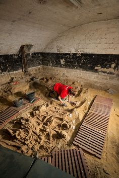 The burials were likely part of a cemetery that belonged to the Trinity Hospital,opened in 1202. They were discovered Paris during a supermarket renovation.