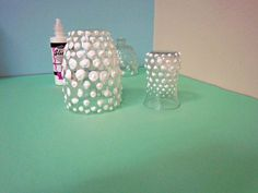 Turn Dollar Store Glasses Into Hobnail Heirlooms