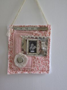Fabric Scrap Collage Wall Hanging...One day...
