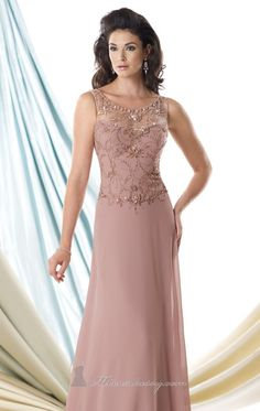 Look and feel like a royalty in Mon Cheri Montage 114916. Dazzling beads swirls all over the bodice. the elegant A-line skirt is made of Georgette Chiffon and Soft Tulle fabric. This beautiful evening gown offers a scoop neckline with sheer top over sweetheart bodice.
