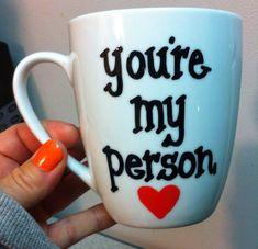 You're my person coffee mug Greys anatomy by GorgeousGlassware, $11.00