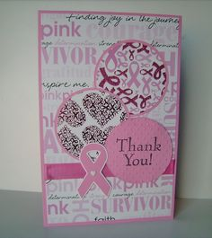 Breast Cancer Awareness Thank You card - Scrapbook.com