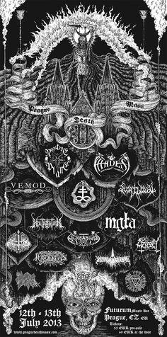 by Teitan Arts (David Glomba)  Prague Death Mass Vol. II poster, 2013