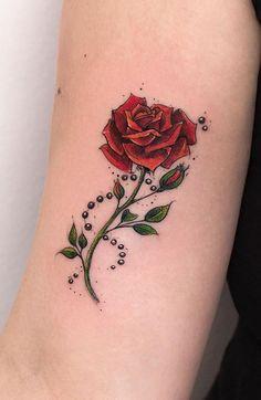 Minimalist Rose Tattoo