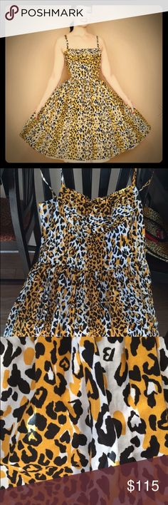 Bernie Dexter 3x runs small leopard dress pinup Very cute Bernie Dexter dress size 3x. Too big for me worn and washed once. So so cute on. Retails now for $168 Bernie Dexter  Dresses