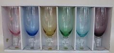 Block Crystal Kaleidoscope Iced Tea Glasses Set of 6 Various Bowl Colors Clear Stem by Block Crystal, http://www.amazon.com/dp/B00C3ILWFO/ref=cm_sw_r_pi_dp_6F-7rb1GPHQ03