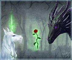 Dragon and Unicorn by begasuslu.deviantart.com on @DeviantArt