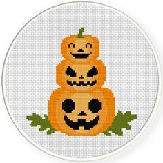 Charts Club Members Only: Pumpkin Tower Cross Stitch Pattern