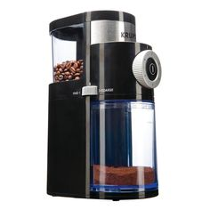 Grind your favorite coffee beans by choosing this Krups Flat Burr Coffee Grinder. Features a metallic flat burr grinder for coffee lovers. Fresh Coffee, Blended Coffee, Hot Coffee, Coffee Drinks, Cappuccino Maker, Coffee Maker, Krups Coffee, Coffee Percolator, Burr Coffee Grinder