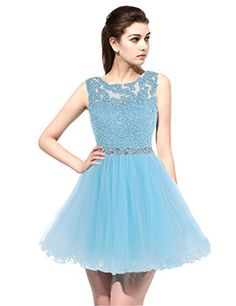 Sarahbridal Women's Short Tulle Beading Homecoming Dress Prom Gown SD133