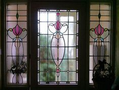 Stained Glass Entrance Cardonald Scotland    New stained glass panel for this front door in exisiting style for this Cardonald home, 1890's.